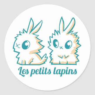 Sticker rond Les petits lapins