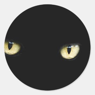 Sticker Rond Les plots réflectorisés noirs