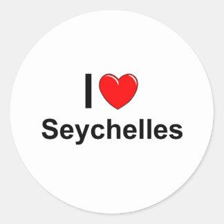 Sticker Rond Les Seychelles