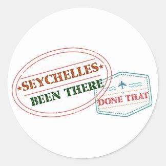 Sticker Rond Les Seychelles là fait cela