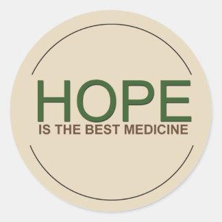 Sticker Rond L'espoir est la meilleure médecine