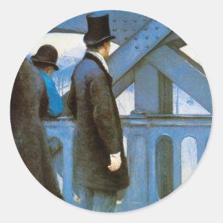 Sticker Rond l'Europe de Le Pont de par Gustave Caillebotte