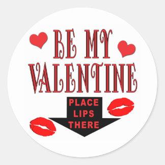Sticker Rond Lèvres de Valentine