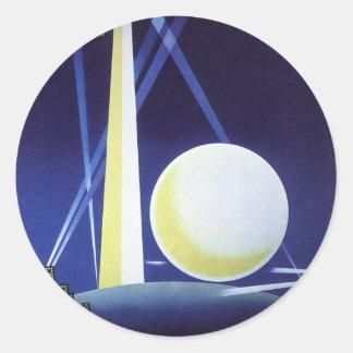 Sticker Rond L'Exposition universelle de New York City en 1939,