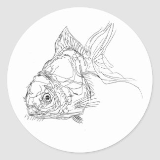 Sticker Rond lil de poisson