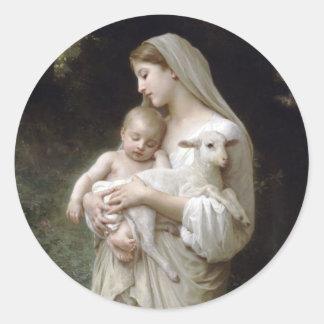 Sticker Rond L'Innocence, William-Adolphe Bouguereau