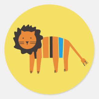 Sticker Rond Lion