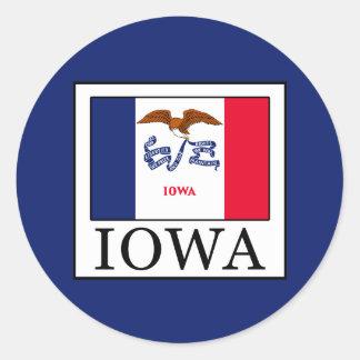 Sticker Rond L'Iowa