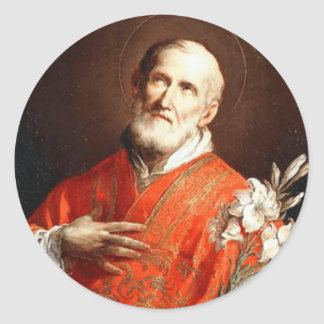 Sticker Rond Lis de St Philip Neri