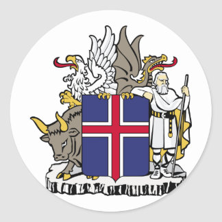Sticker Rond L'Islande, Islande