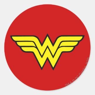 Sticker Rond Logo classique de la femme de merveille  