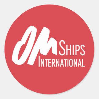 Sticker Rond Logo de bateaux d'OM