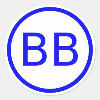 Sticker Rond Logo de BenBerg6 YouTube