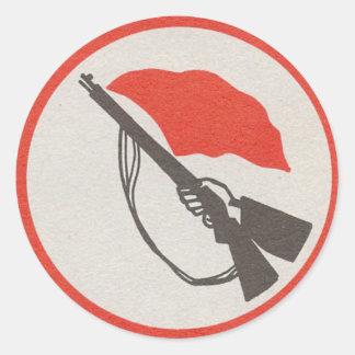 Sticker Rond Logo de la milice des travailleurs Allemand de