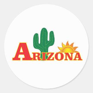 Sticker Rond Logo de l'Arizona simple
