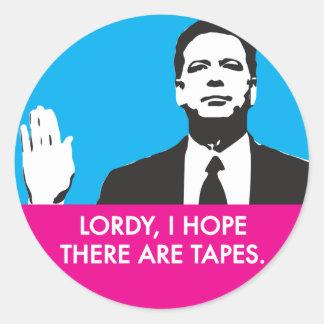 Sticker Rond Lordy, j'espère qu'il y a des bandes
