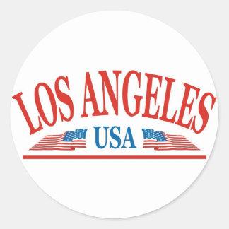 Sticker Rond Los Angeles la Californie Etats-Unis