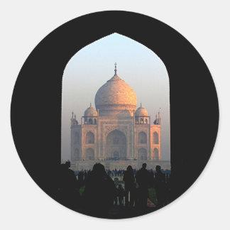 Sticker Rond Lumière du Taj Mahal de photo d'architecture de