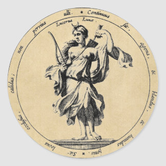 Sticker Rond Lune de Luna de déesse