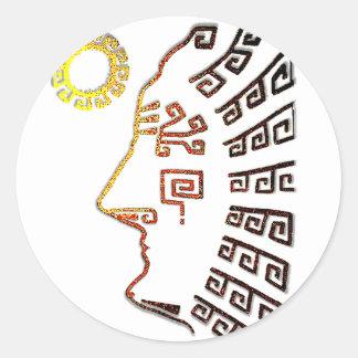 Sticker Rond Machu Picchu Cusco Pérou