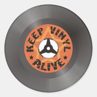 Sticker Rond Maintenez le vinyle vivant
