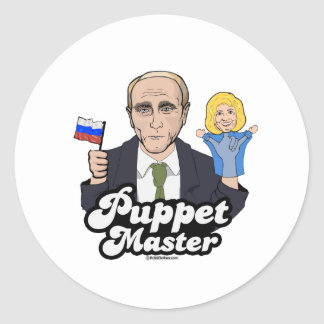 Sticker Rond Maître de marionnette de Hillary - Vladimir