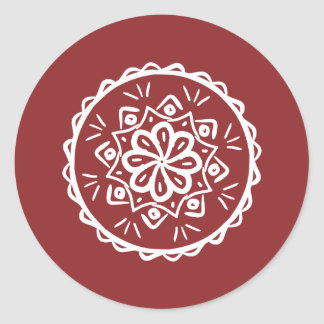 Sticker Rond Mandala de canneberge