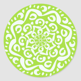 Sticker Rond Mandala de chaux
