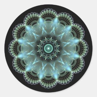 Sticker Rond Mandala de fractale