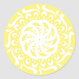 Sticker Rond Mandala de fruit d'étoile