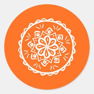 Sticker Rond Mandala de pavot