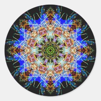 Sticker Rond Mandala détaillé coloré