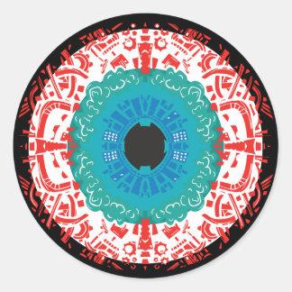 Sticker Rond Mandala d'oeil