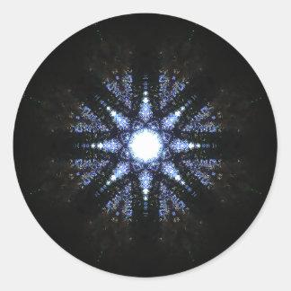 Sticker Rond Mandala en forme d'étoile de réacteur d'énergie