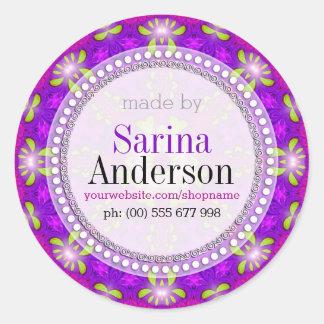 Sticker Rond Mandala léger curatif pourpre fait par des