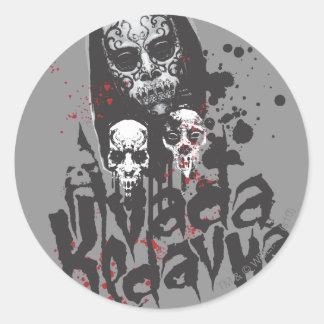 Sticker Rond Mangeur Avada Kedavra de la mort du charme | de