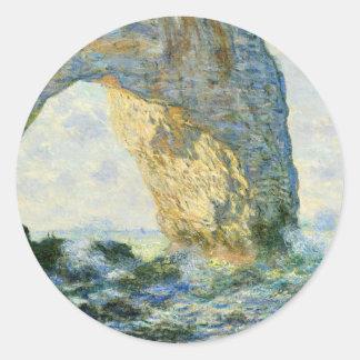 Sticker Rond Manneporte, voûte de roche - Étretat (Normandie) -