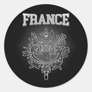 Sticker Rond Manteau de la France des bras
