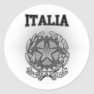 Sticker Rond Manteau de l'Italie des bras