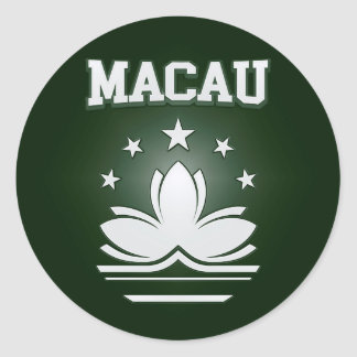 Sticker Rond Manteau de Macao des bras