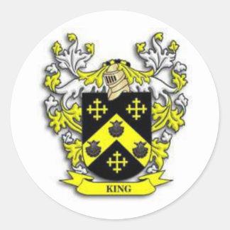 Sticker Rond Manteau de roi des bras