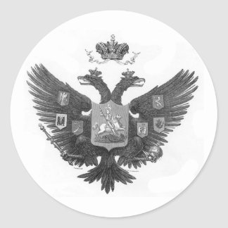 Sticker Rond Manteau des bras russe