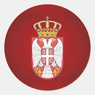 Sticker Rond Manteau des bras serbe