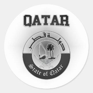 Sticker Rond Manteau du Qatar des bras