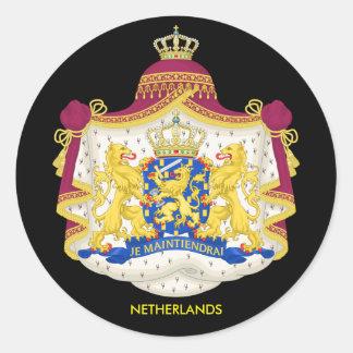 Sticker Rond Manteau néerlandais d'autocollant de classique de