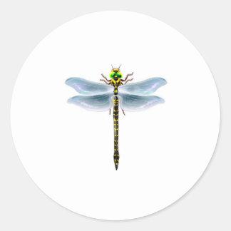 Sticker Rond marchandises de libellule