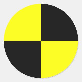 Sticker Rond Marqueur de simulacre d'essai d'accident