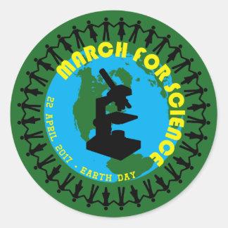 Sticker Rond Mars pour la Science - jour de la terre - 22 avril