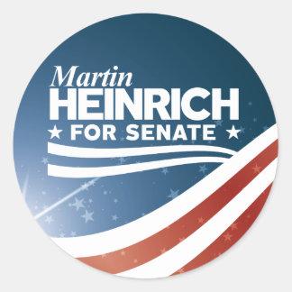 Sticker Rond Martin Heinrich pour le sénat