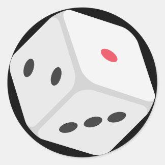 Sticker Rond Matrices chanceuses Emoji de roulement